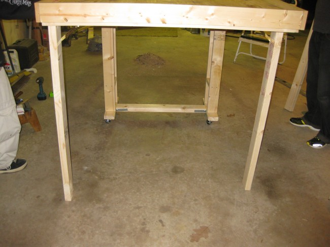 Legs of the standing table