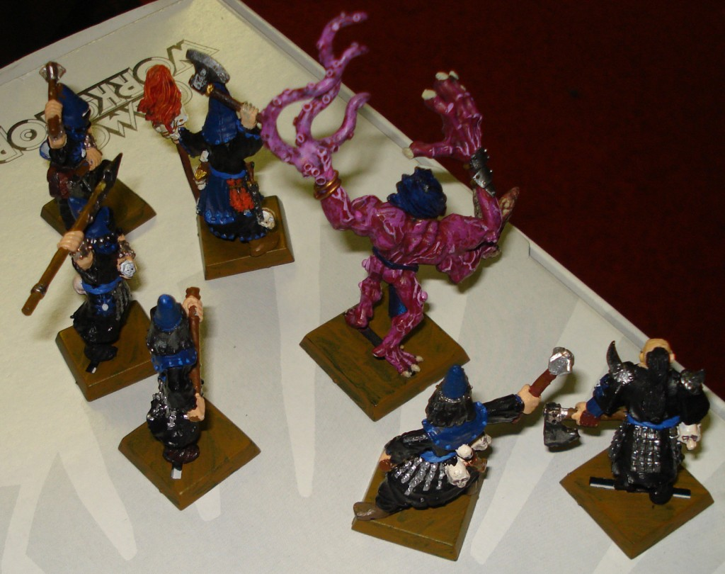 Back view of the warband