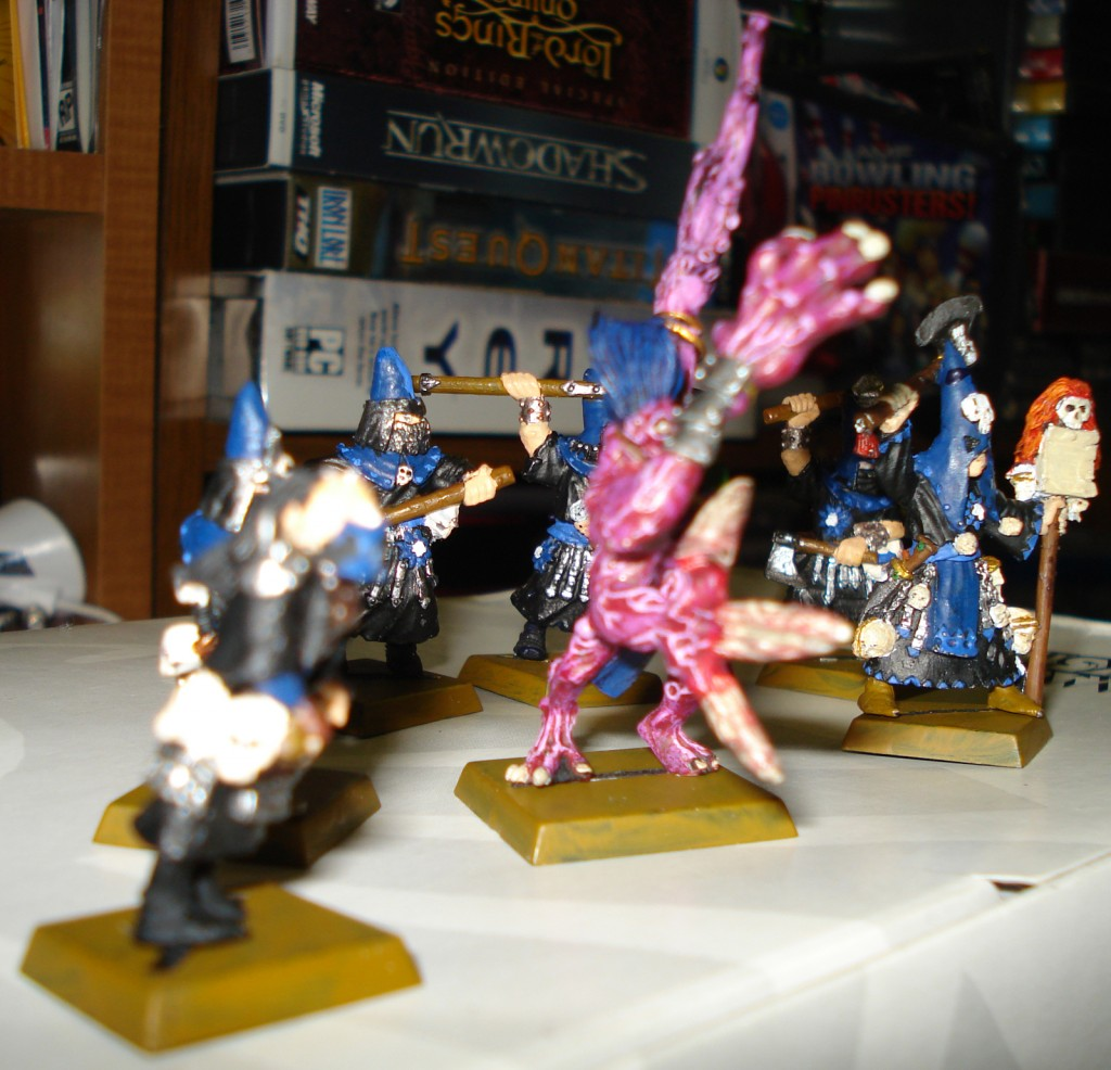 Left side view of the Warband