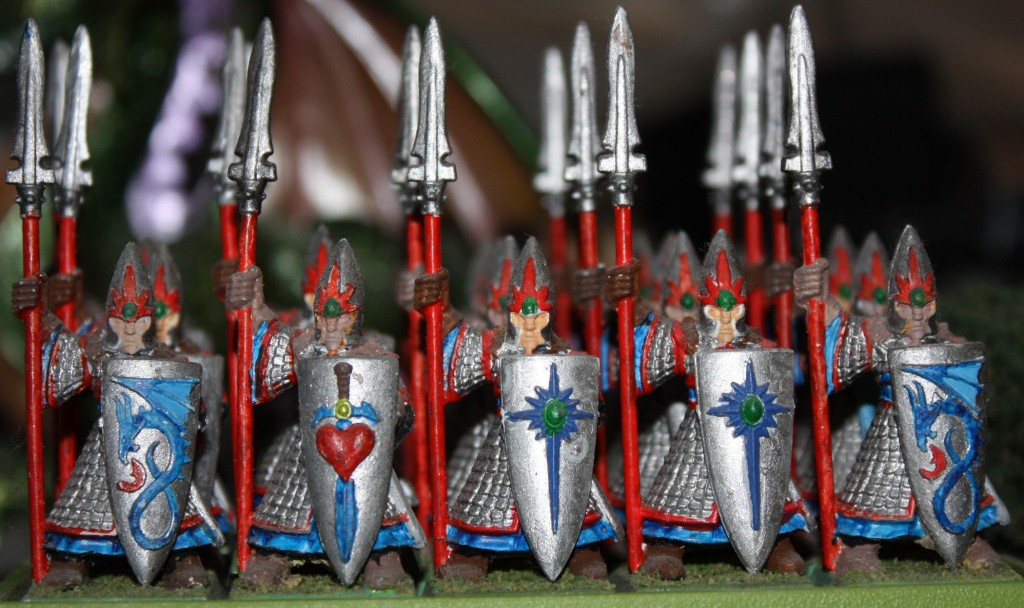 Front view of the Spearmen unit