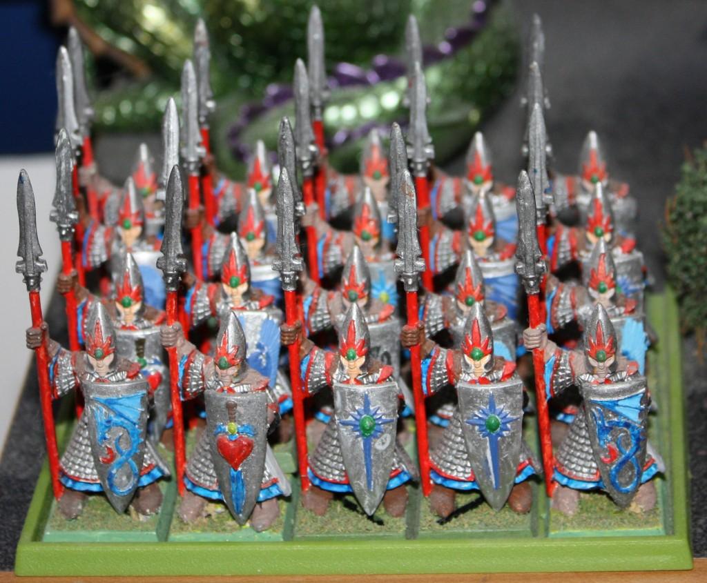 Angled view of the full Spearmen ranks
