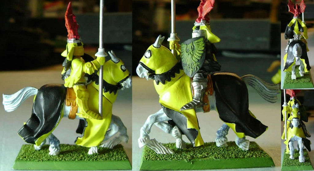 Black and Yellow Knight with Bat