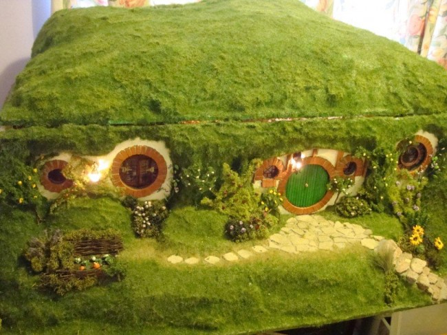 The whole hobbit hole with cover on.