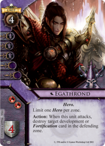 Dark Elf Hero Card