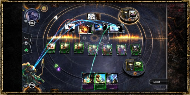 A game of Hex in action.