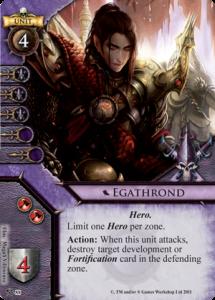 Dark Elf Hero Card